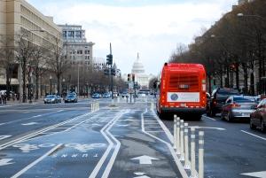 Pennsylvania Street, vue sur le Capitole