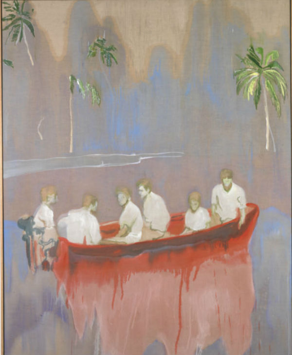 Figures in Red Boat, 2005-2007, Private Collection, © Peter Doig