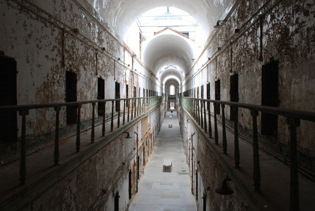 Une des cinq ailes du Eastern State Penitentiary, (c) Marie-Eve Blanchard