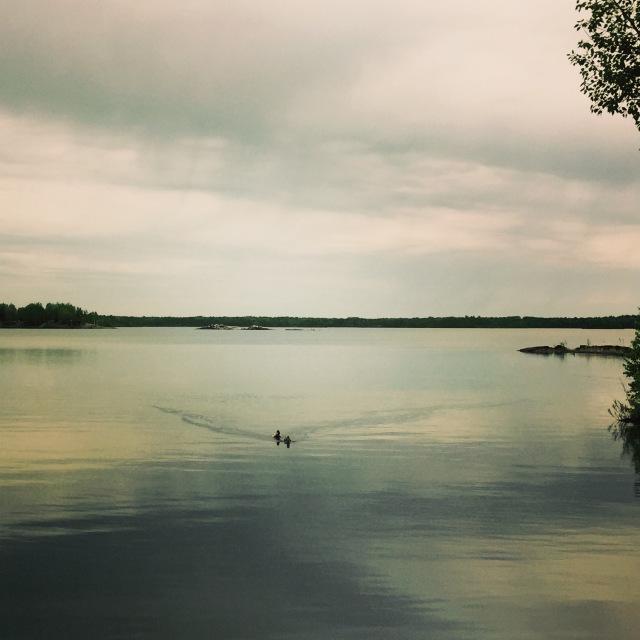 Lac Osisko aux abords du centre-ville de Rouyn-Noranda